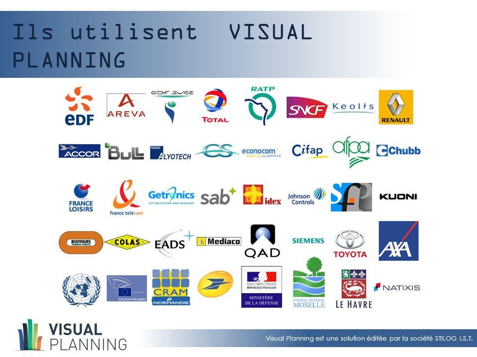 Visual Planning est une solution éditée par la société STILOG I.S.T. Ils utilisent VISUAL PLANNING