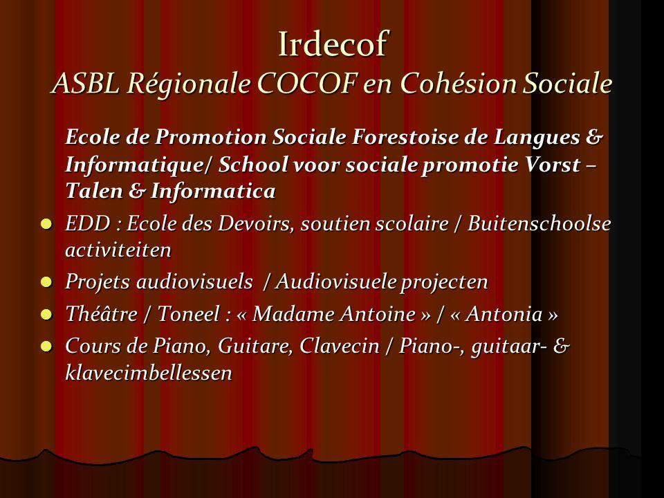 Pour mémoire IRDECOF a été créé en 1989 sous l'égide du Président de la Commission Jacques Delors par Sir Yehudi Menuhin, Yves Bessières et Patricia Niezwiecki.