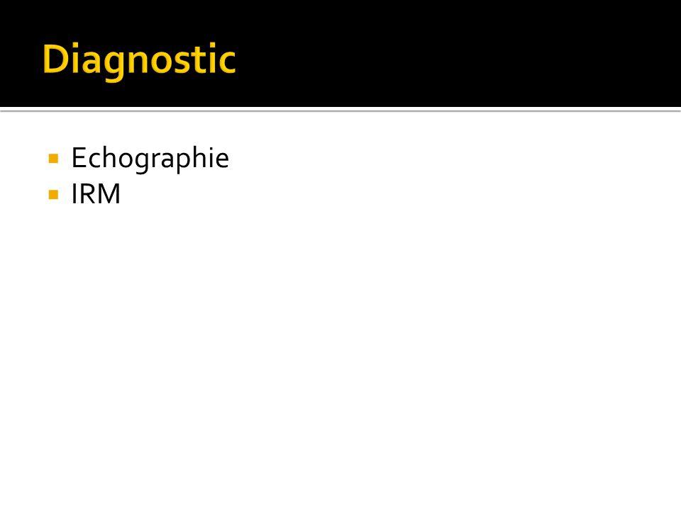  Echographie  IRM