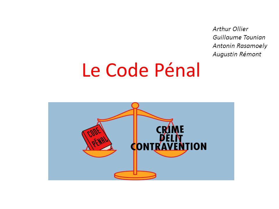 PLAN Introduction I.L'évolution du droit pénal à travers le Code pénal français A.