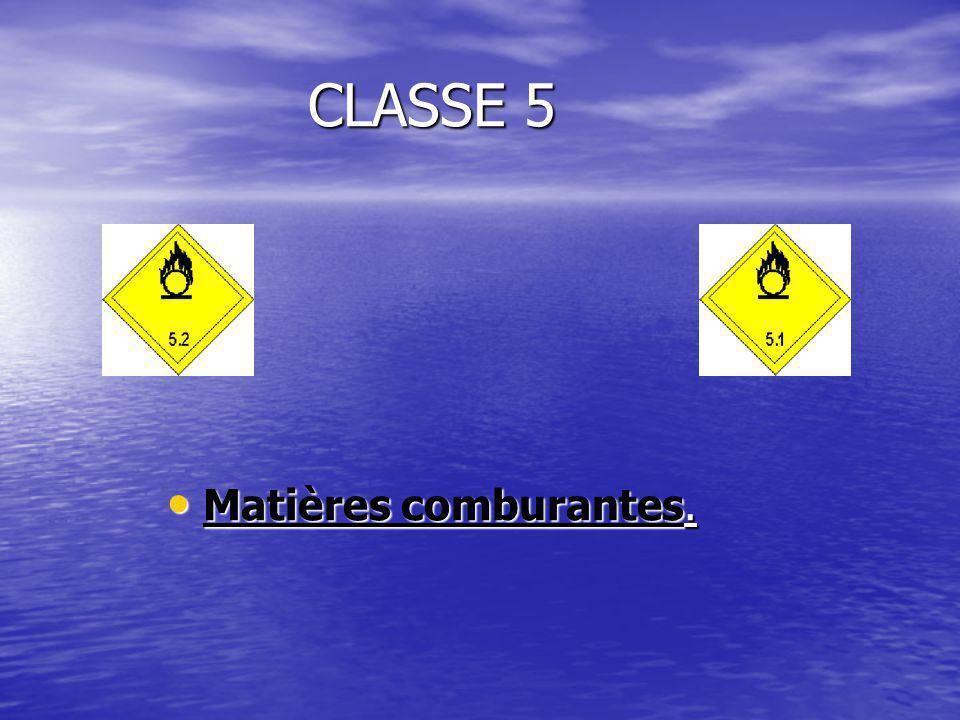 CLASSE 5 Matières comburantes. Matières comburantes.