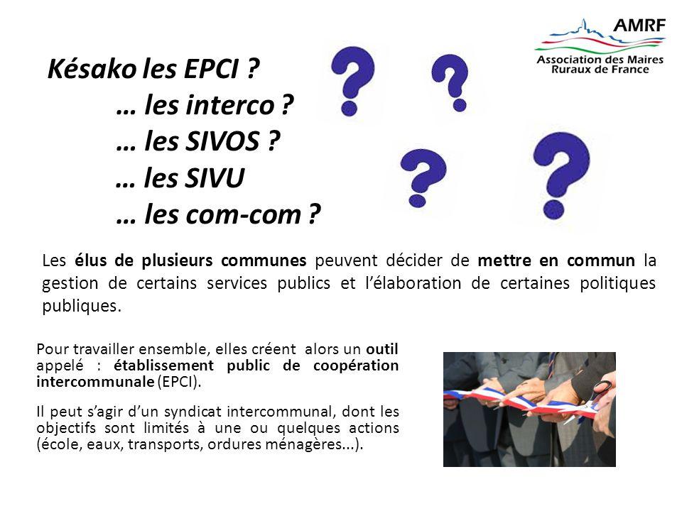 Pour travailler ensemble, elles créent alors un outil appelé : établissement public de coopération intercommunale (EPCI). Il peut s'agir d'un syndicat
