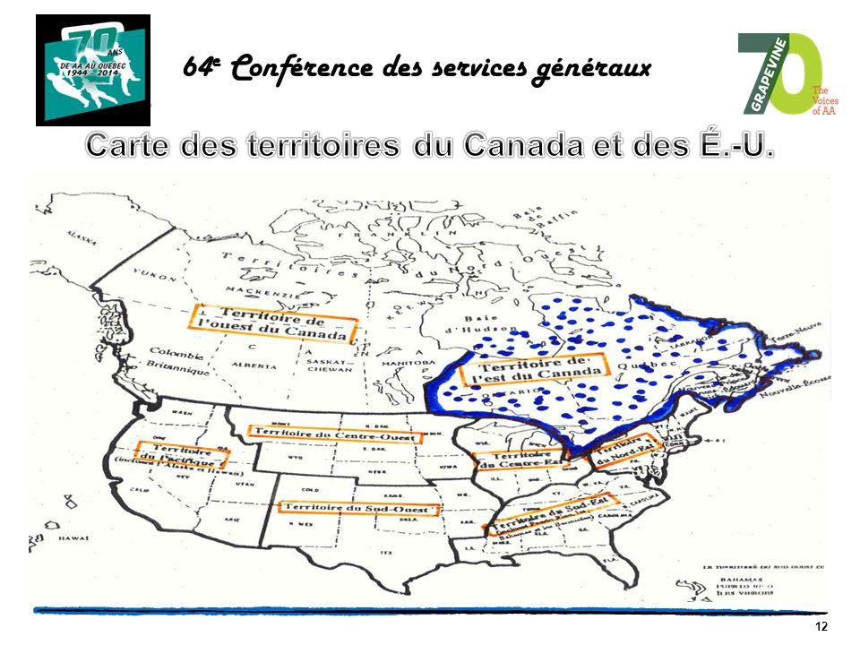 12 64 e Conférence des services généraux