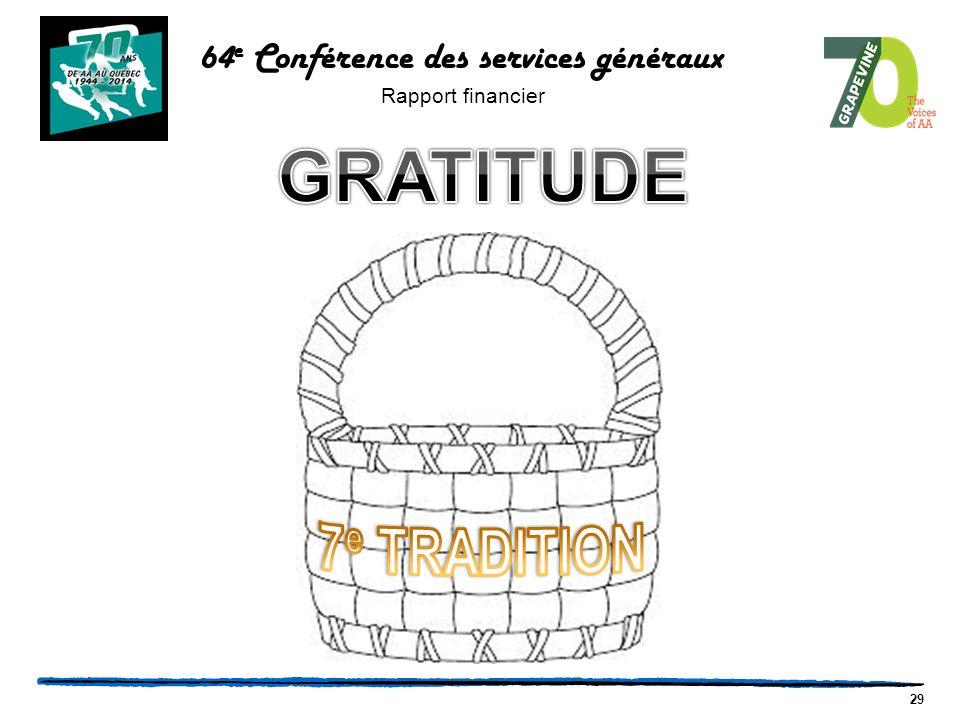 29 64 e Conférence des services généraux Rapport financier