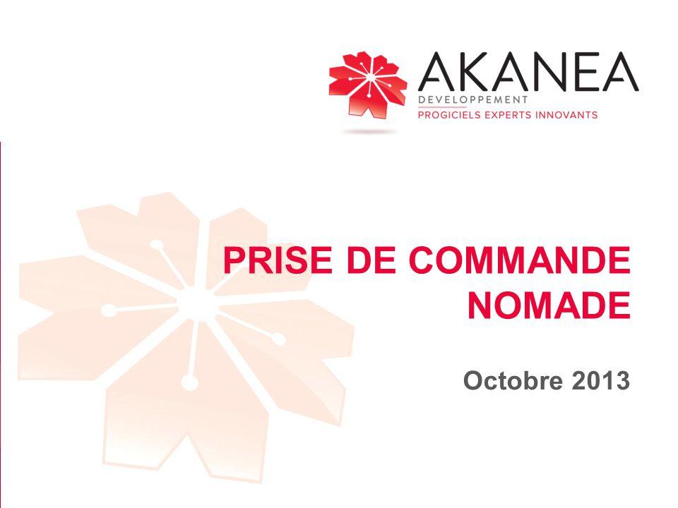 PRISE DE COMMANDE NOMADE Octobre 2013