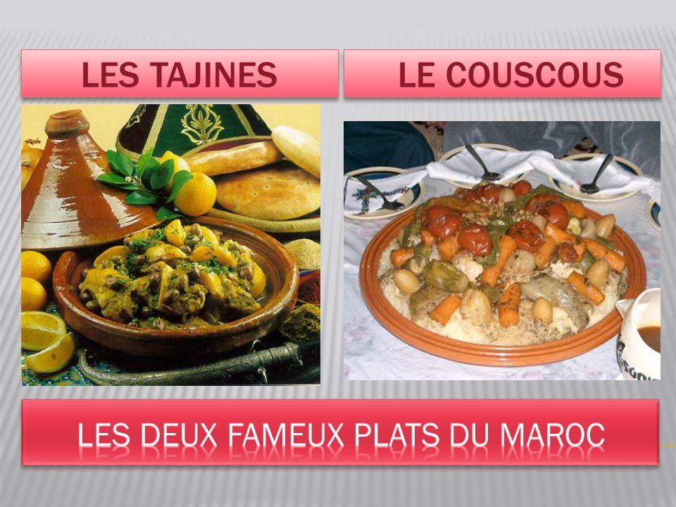 LES TAJINES LE COUSCOUS