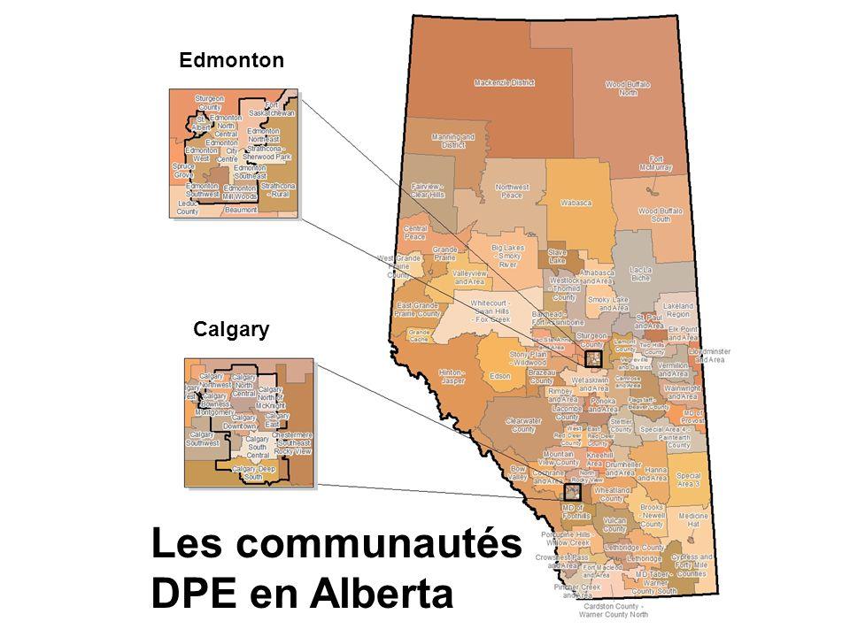 Les communautés DPE en Alberta Edmonton Calgary