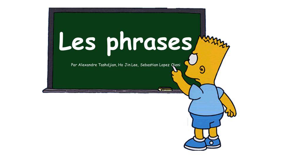 ●Phrase de base (GN+GV) ●les phrase positives et negatives o positive o negative (ne pas, ne plus) ●Neutre ou emphatique o Neutre o emphatique Phrase déclarative