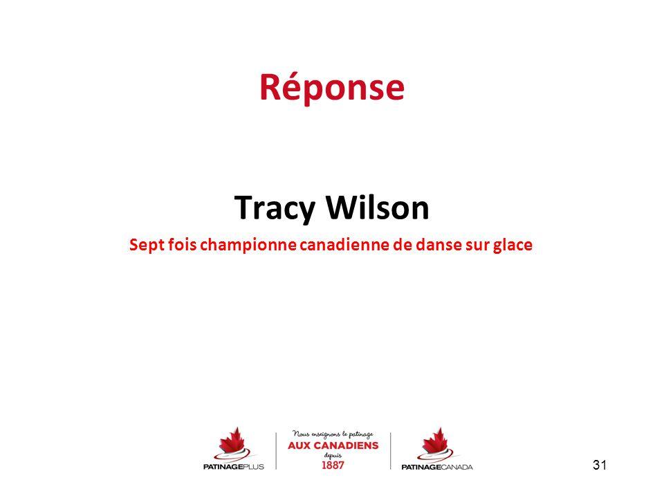 Réponse Tracy Wilson Sept fois championne canadienne de danse sur glace 31