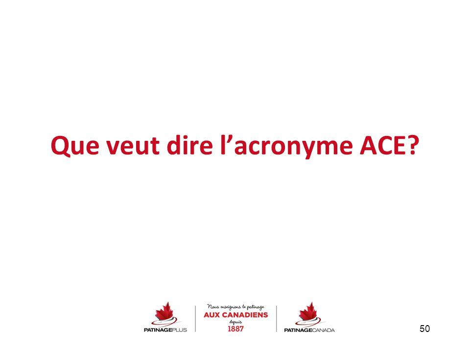 Que veut dire l'acronyme ACE? 50