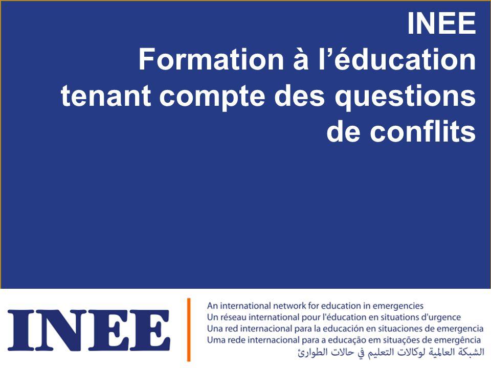 INEE Formation à l'éducation tenant compte des questions de conflits
