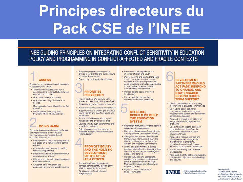 Principes directeurs du Pack CSE de l'INEE