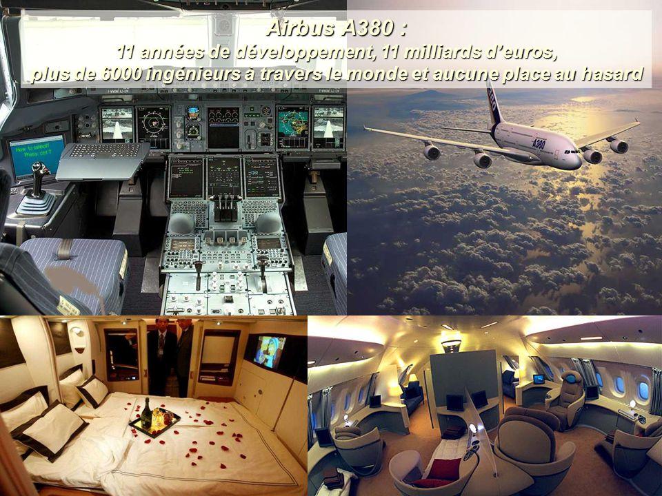 Airbus A380 : 11 années de développement, 11 milliards d'euros, plus de 6000 ingénieurs à travers le monde et aucune place au hasard