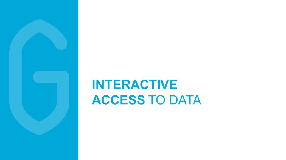 8 INTERACTIVE ACCESS TO DATA