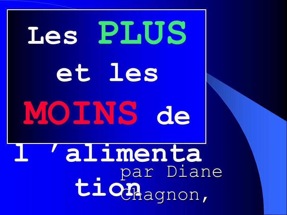 Les PLUS et les MOINS de l 'alimenta tion par Diane Chagnon, diététiste - nutritionniste