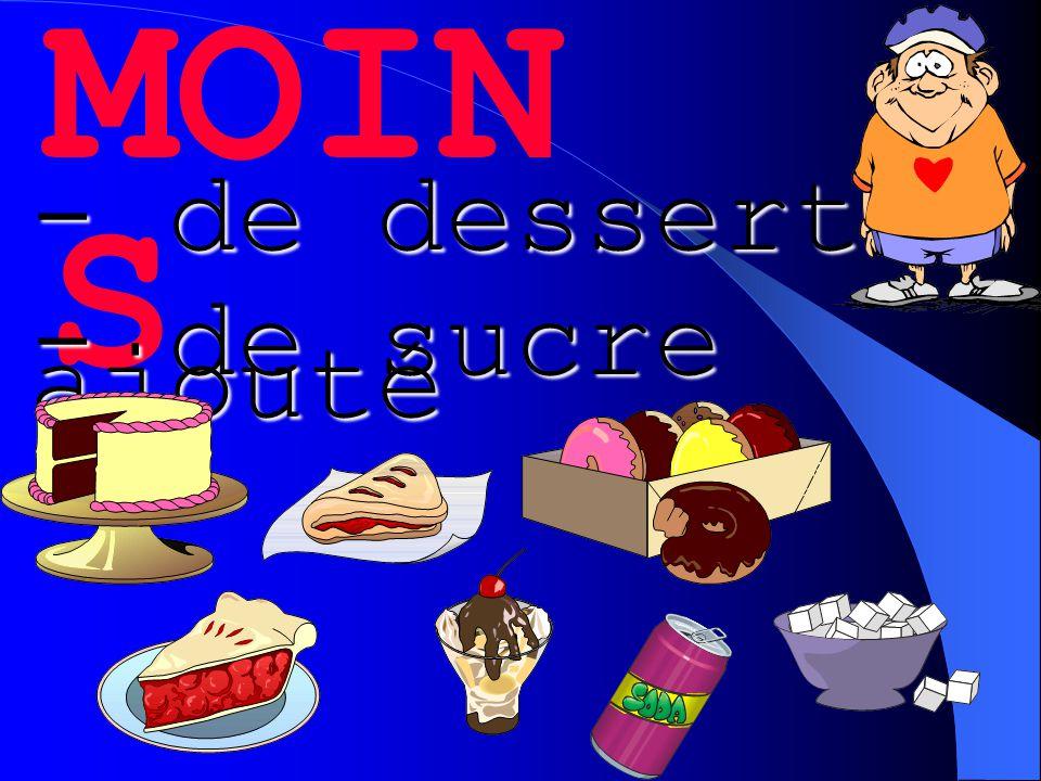 MOIN S - de desserts - de sucre ajouté
