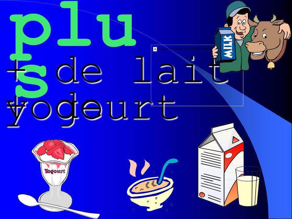plu s + de lait + de yogourt