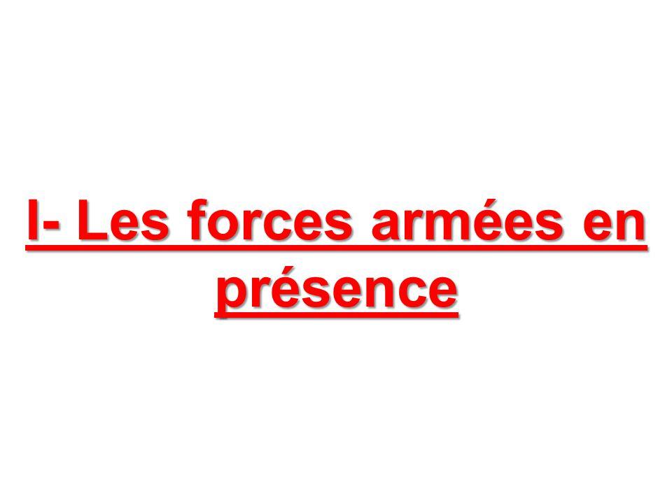 I- Les forces armées en présence
