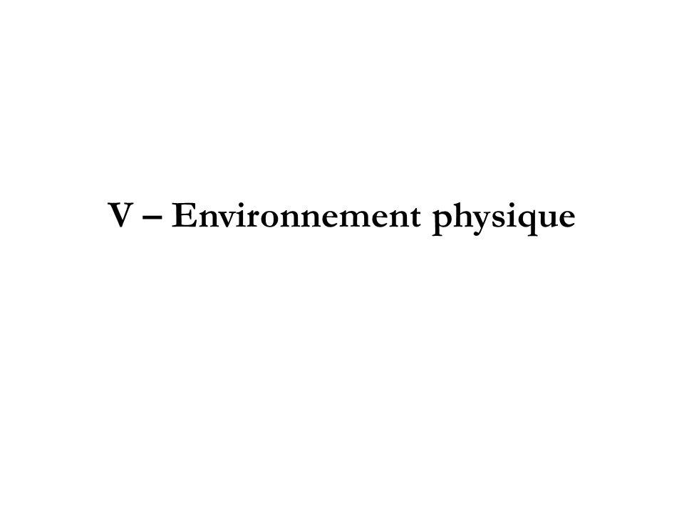 V – Environnement physique