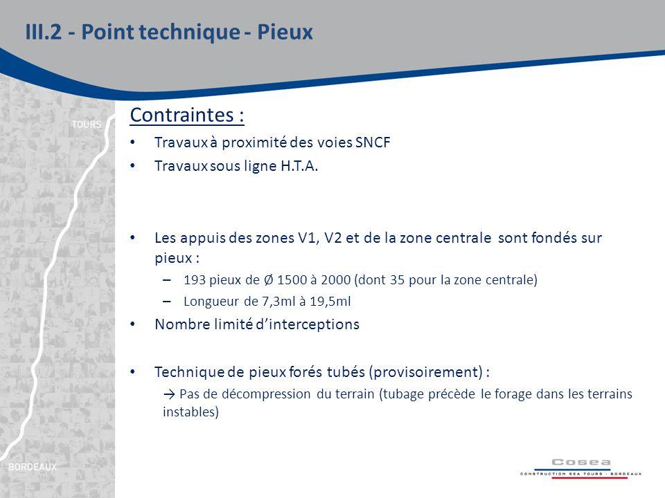 Contraintes : Travaux à proximité des voies SNCF Travaux sous ligne H.T.A.