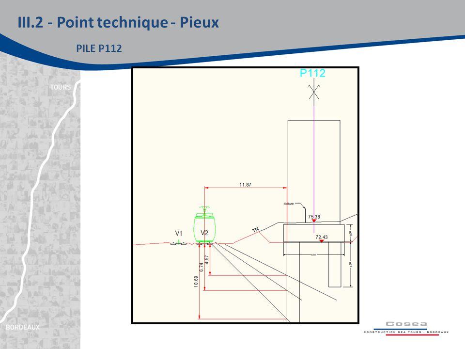 III.2 - Point technique - Pieux PILE P112