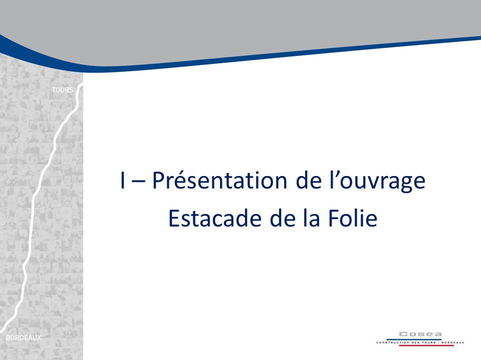I – Présentation de l'ouvrage Estacade de la Folie