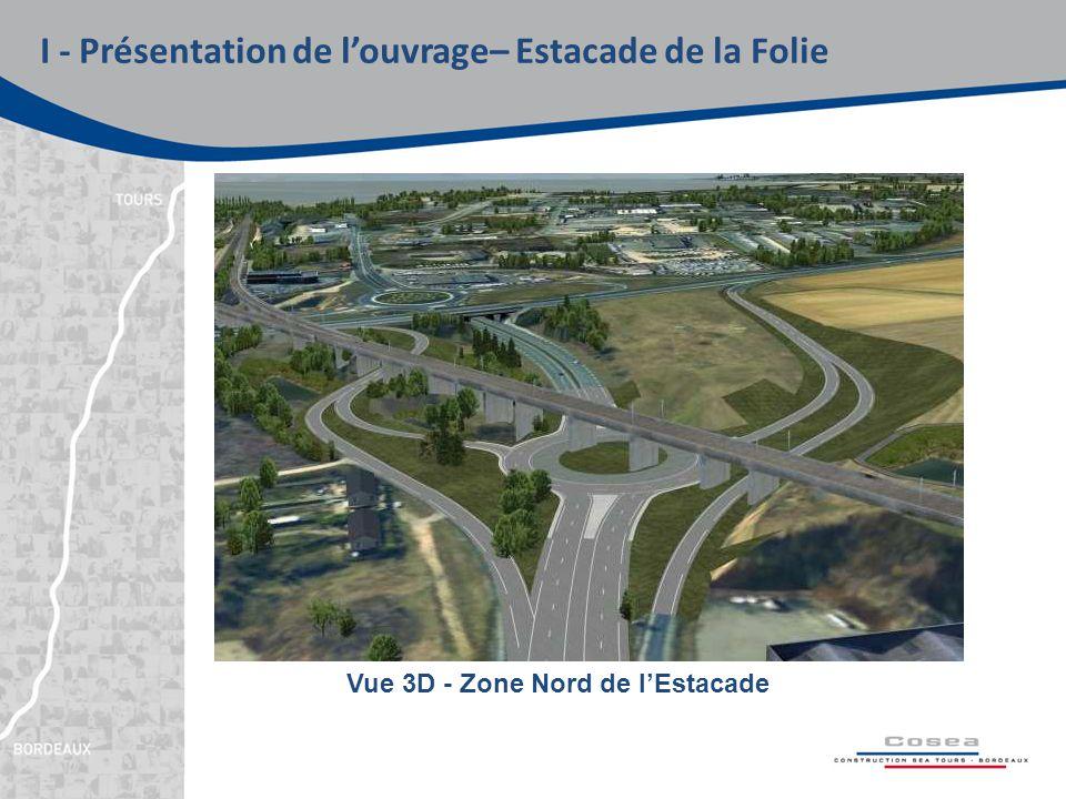 I - Présentation de l'ouvrage– Estacade de la Folie Vue 3D - Zone Nord de l'Estacade