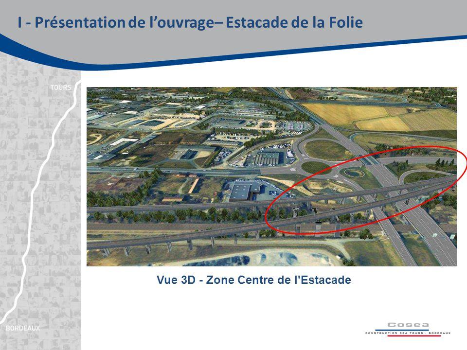 I - Présentation de l'ouvrage– Estacade de la Folie Vue 3D - Zone Centre de l Estacade