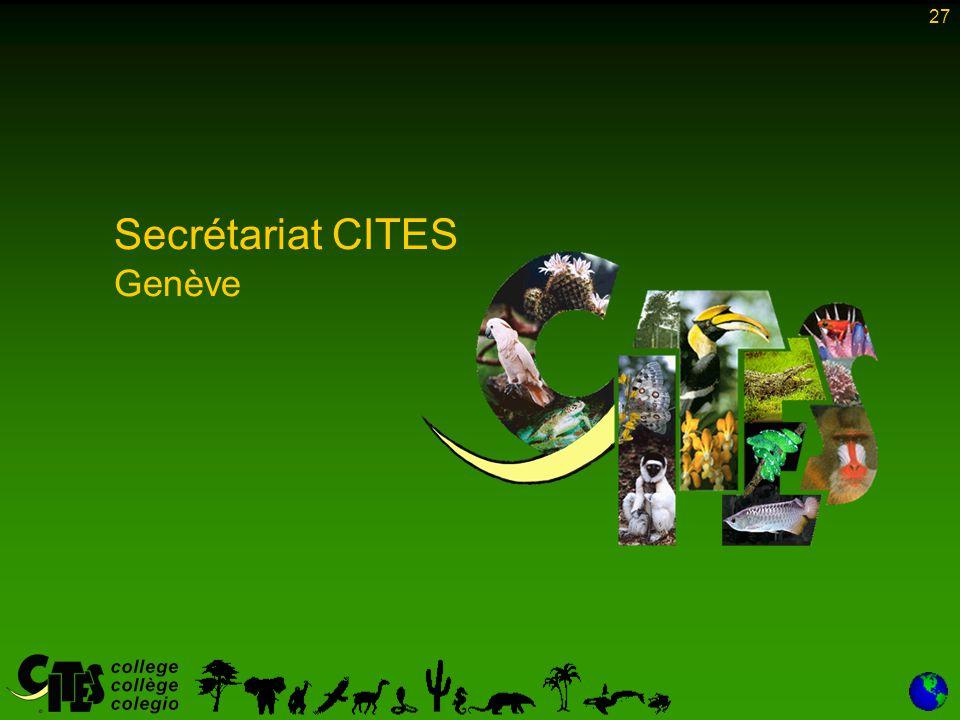 27 Secrétariat CITES Genève