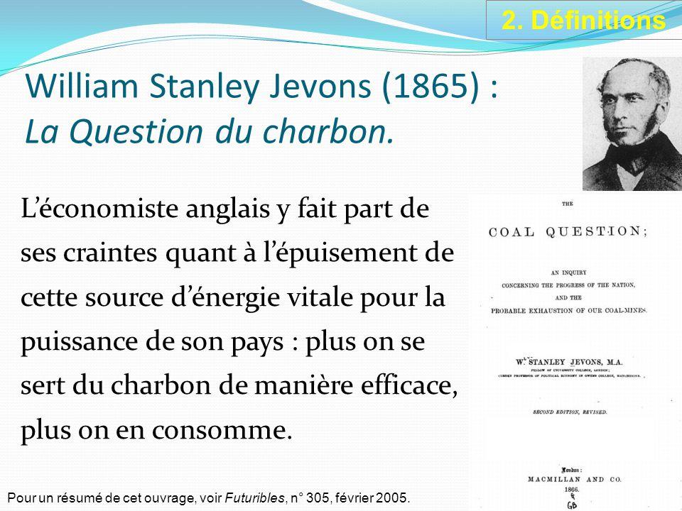 William Stanley Jevons (1865) : La Question du charbon.