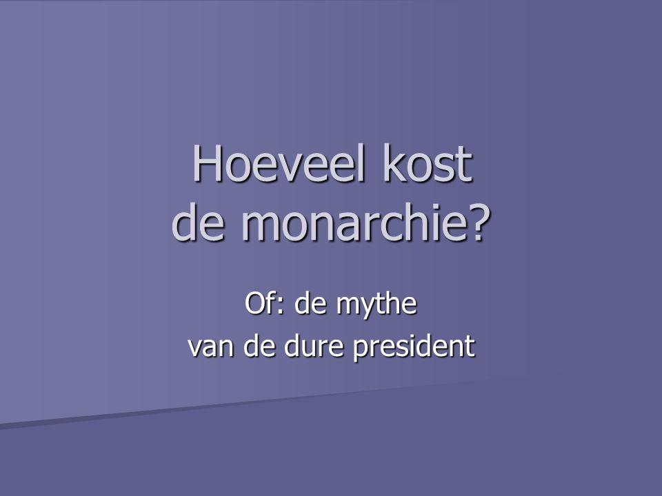 Hoeveel kost de monarchie? Of: de mythe van de dure president