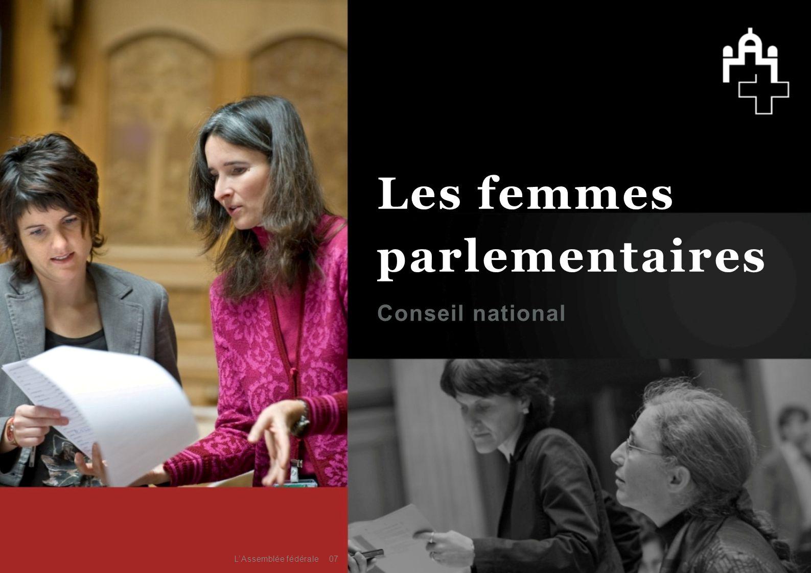 Les femmes parlementaires Conseil national 08L'Assemblée fédérale