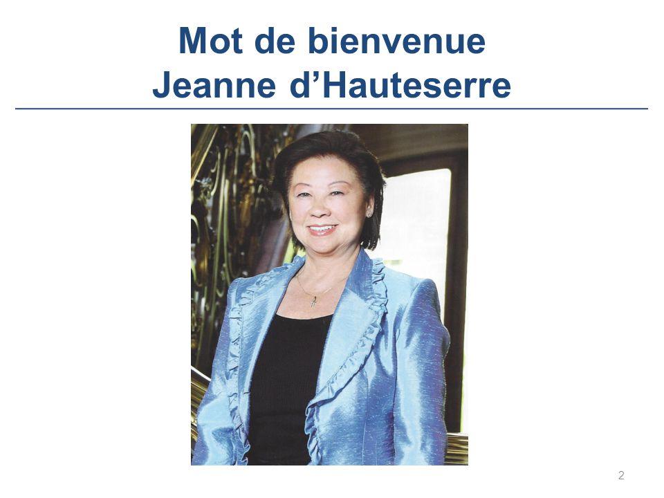 Mot de bienvenue Jeanne d'Hauteserre 2