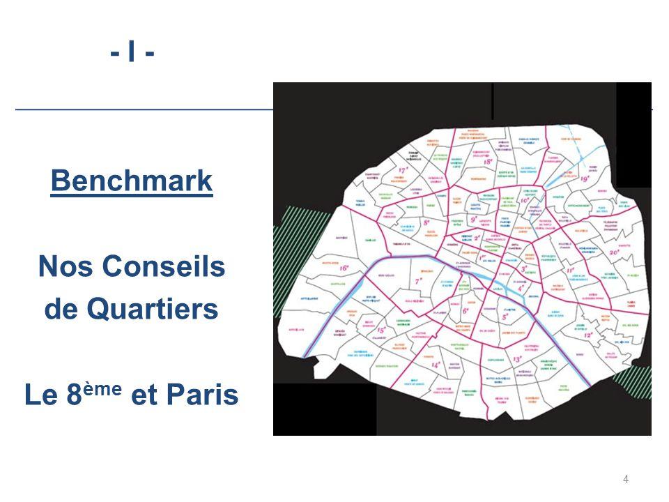 - I - Benchmark Nos Conseils de Quartiers Le 8 ème et Paris 4