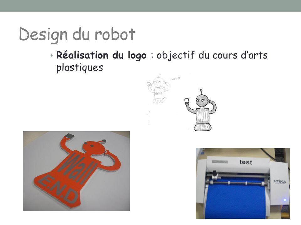 Design du robot Réalisation du logo : objectif du cours d'arts plastiques