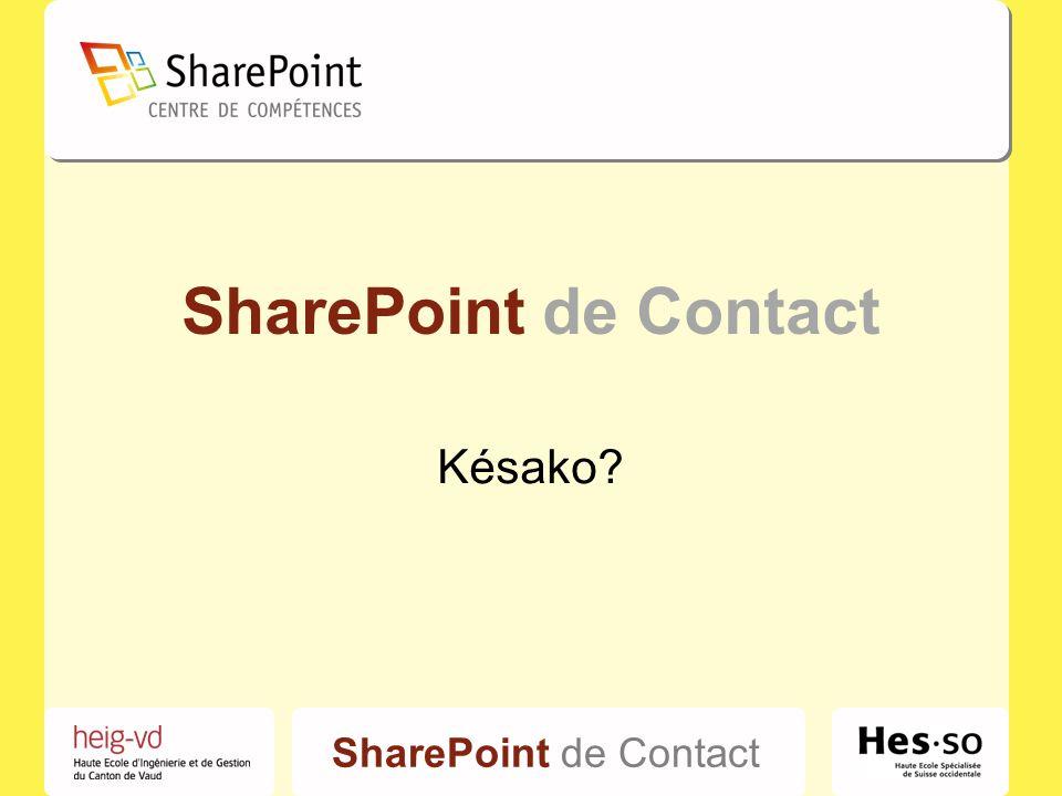 SharePoint de Contact Photos – vidéos