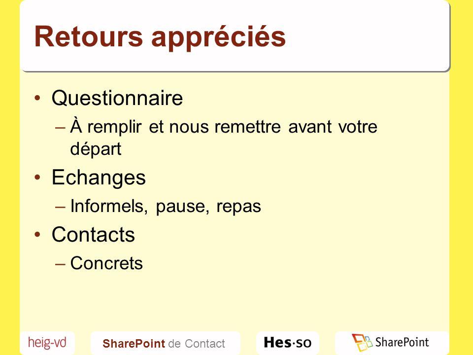 SharePoint de Contact C'est parti!