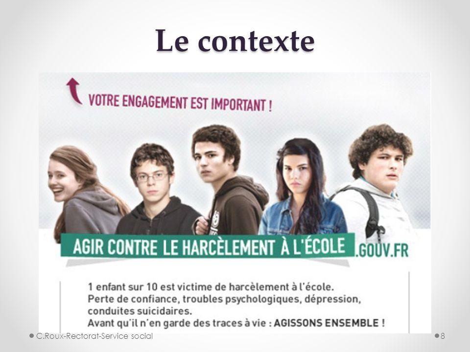 Le contexte 8C.Roux-Rectorat-Service social
