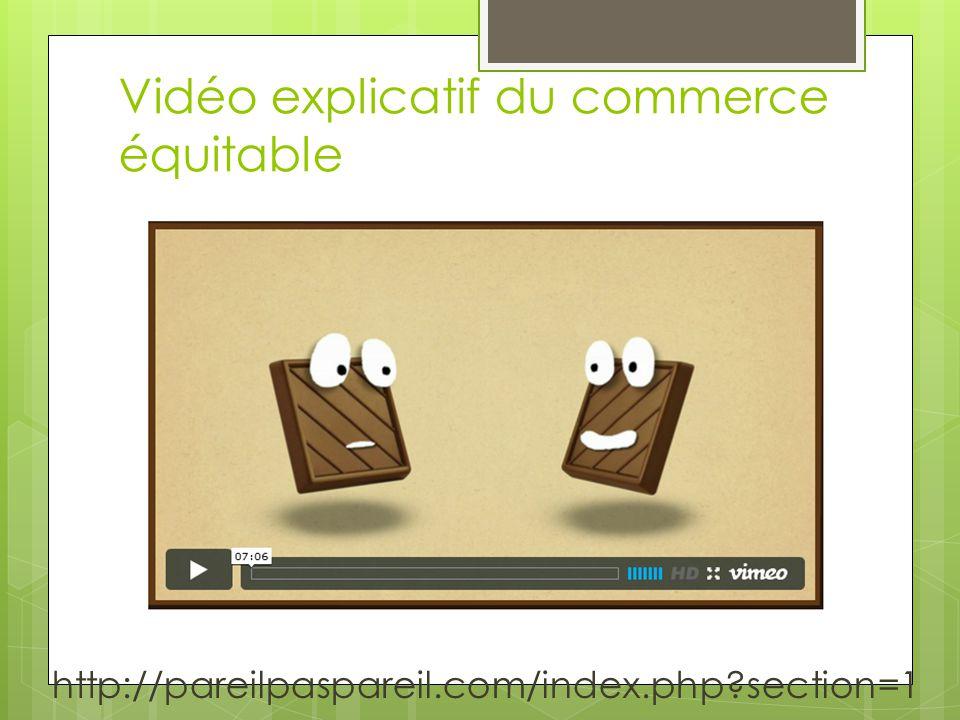 Vidéo explicatif du commerce équitable http://pareilpaspareil.com/index.php section=1
