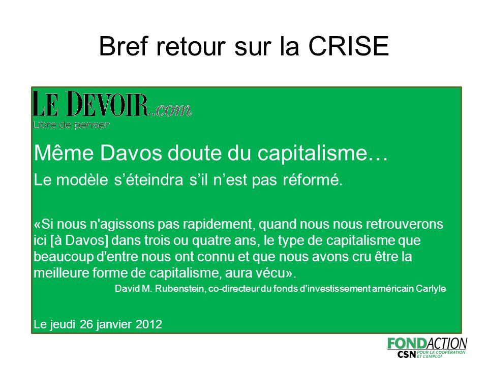 Même Davos doute du capitalisme… Le modèle s'éteindra s'il n'est pas réformé.