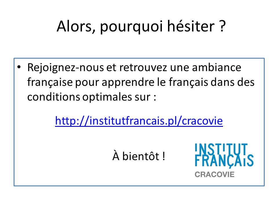 Alors, pourquoi hésiter ? Rejoignez-nous et retrouvez une ambiance française pour apprendre le français dans des conditions optimales sur : http://ins