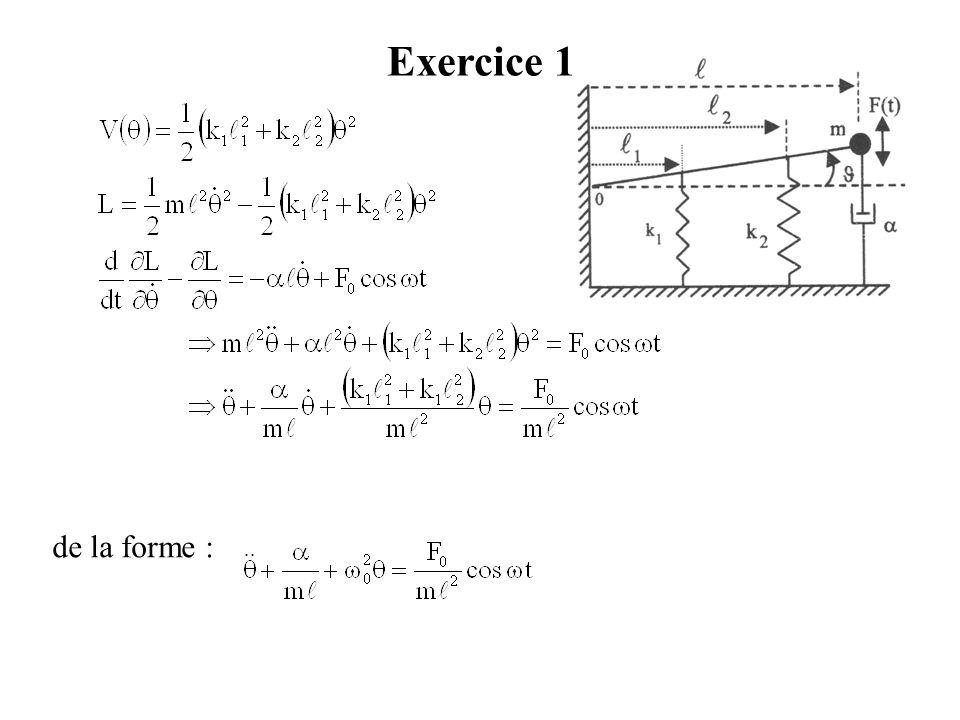 Exercice 1 de la forme :