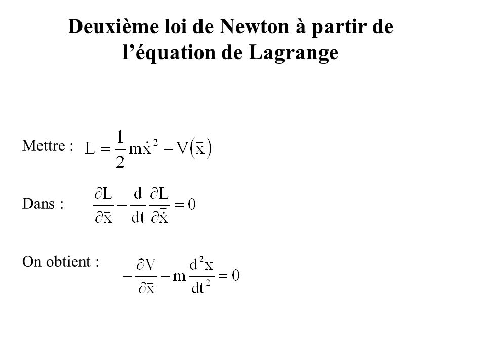 Exemple 2 : Solution (4) Système n°4 : Système n° 4