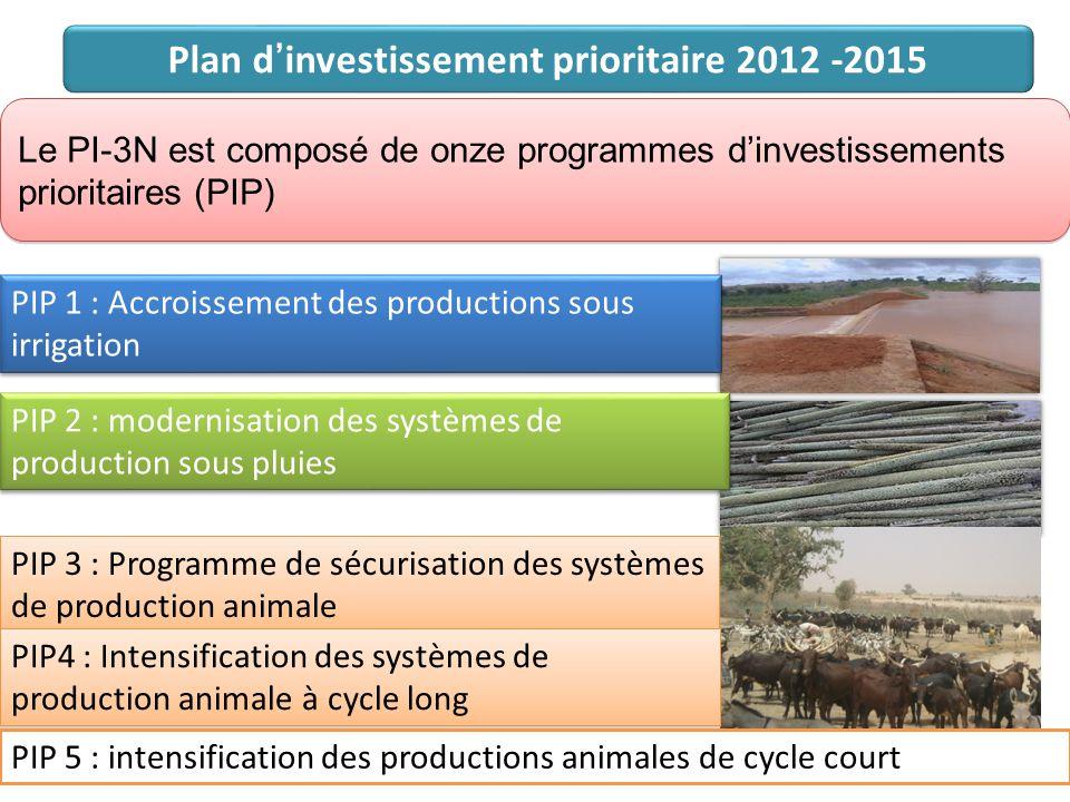 Le PI-3N est composé de onze programmes d'investissements prioritaires (PIP) Le PI-3N est composé de onze programmes d'investissements prioritaires (P