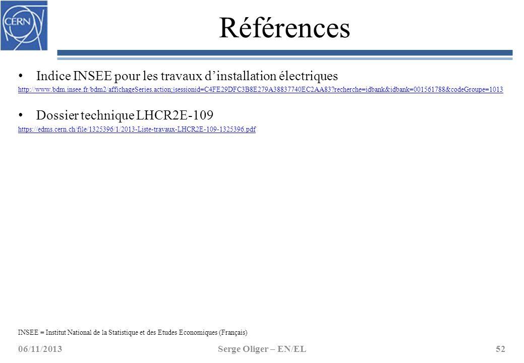 Références Indice INSEE pour les travaux d'installation électriques http://www.bdm.insee.fr/bdm2/affichageSeries.action;jsessionid=C4FE29DFC3B8E279A38