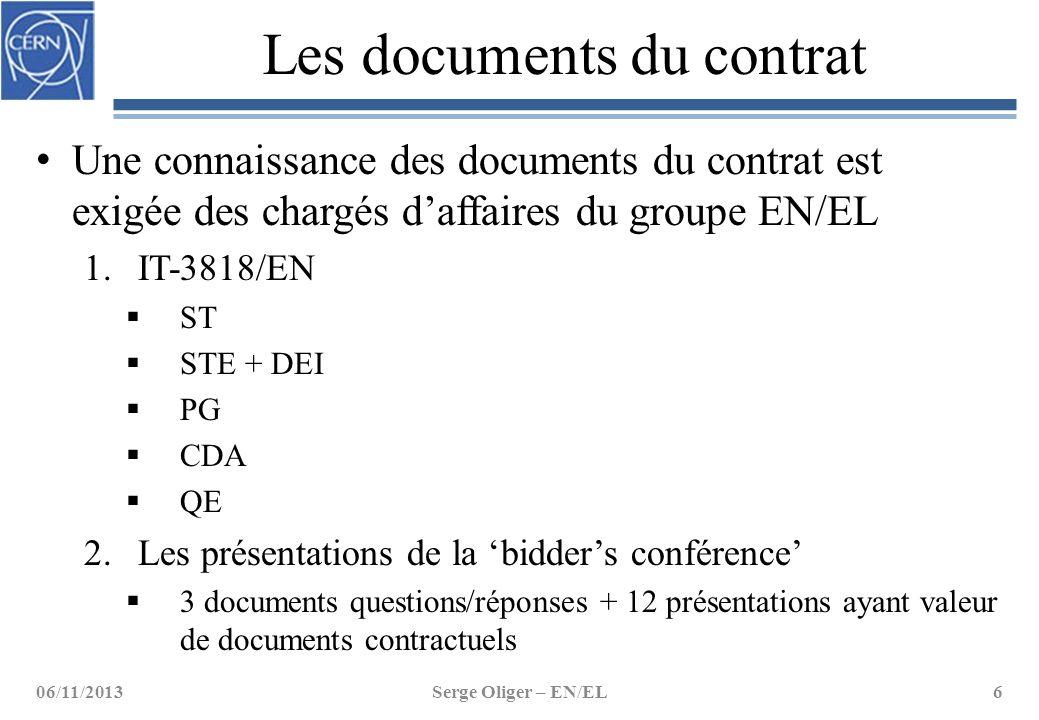 Les documents du contrat Une connaissance des documents du contrat est exigée des chargés d'affaires du groupe EN/EL 1.IT-3818/EN  ST  STE + DEI  P