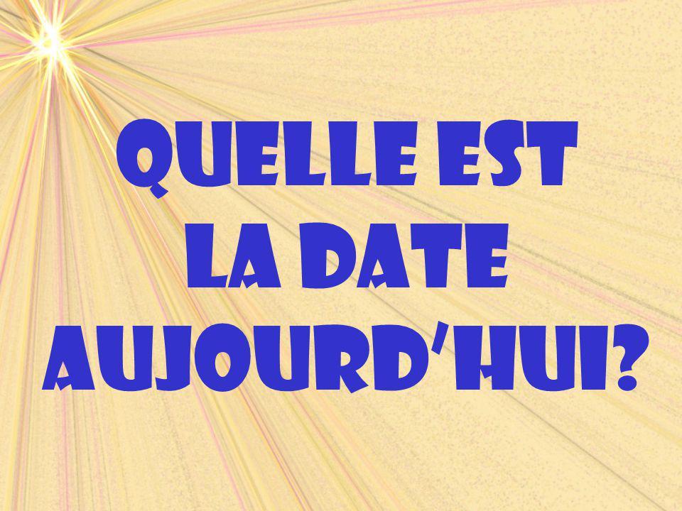 fÉvrierfebruary Quelle est la date demain? C'est lundi, le deux février.