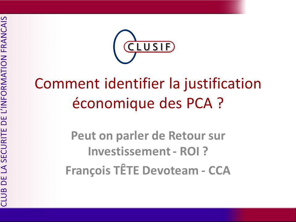 Comment identifier la justification économique des PCA .