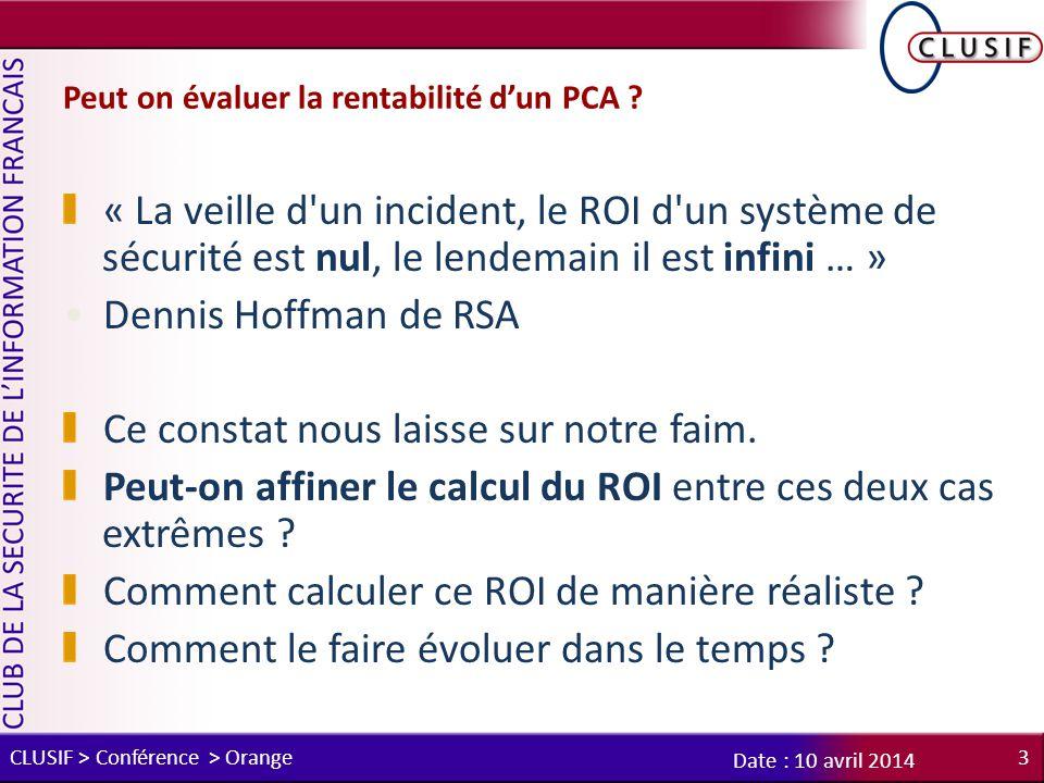 Peut on évaluer la rentabilité d'un PCA .