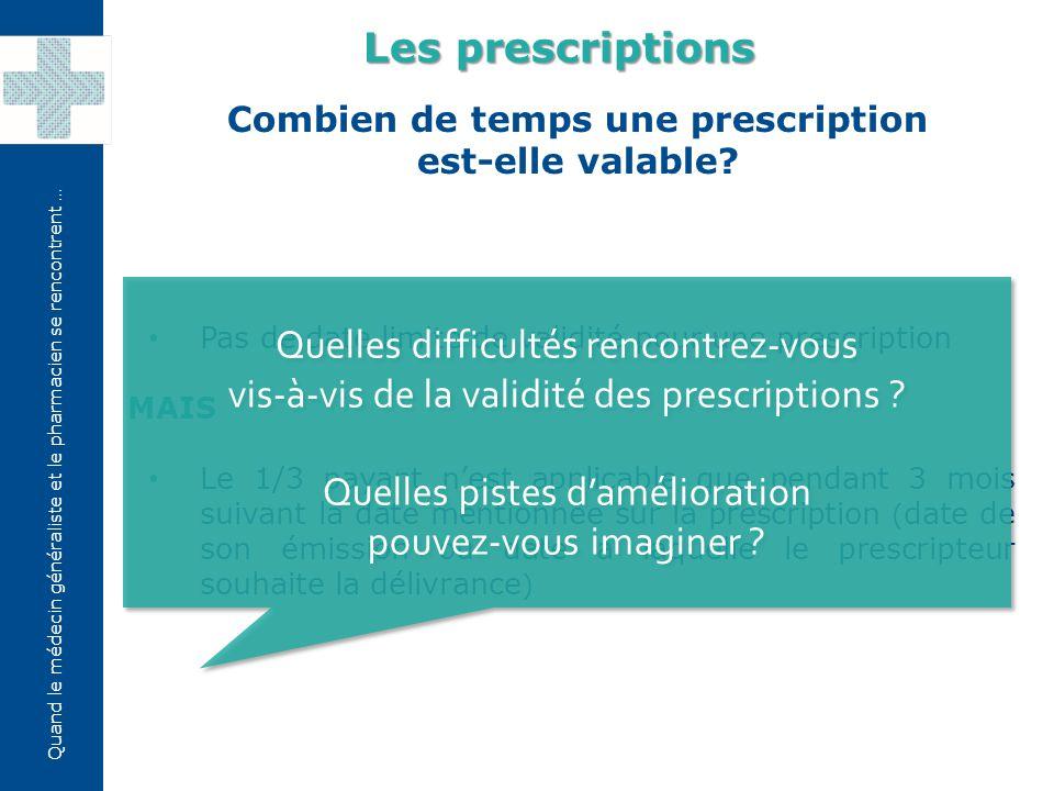 Quand le médecin généraliste et le pharmacien se rencontrent … Comment prescrire les substances soporifiques et stupéfiantes.